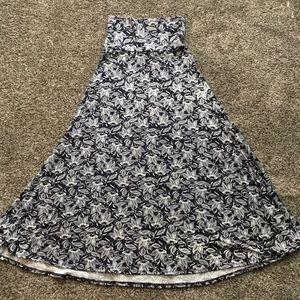 SALE 🎉 LuLaRoe Navy and White Maxi Skirt XS